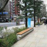【京橋駅】中央通り 東京スクエアガーデン前の休憩場所