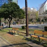 【赤羽橋駅】芝公園 18号地 広場のベンチ