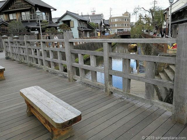 樋橋のベンチからの利根川方面の景観