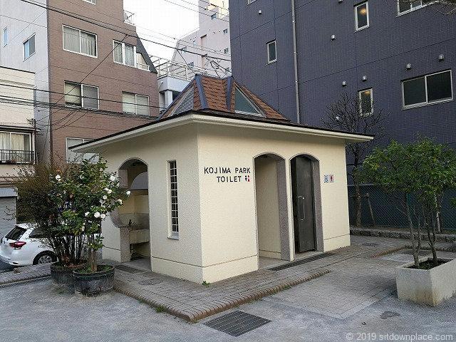 小島公園の公衆トイレ