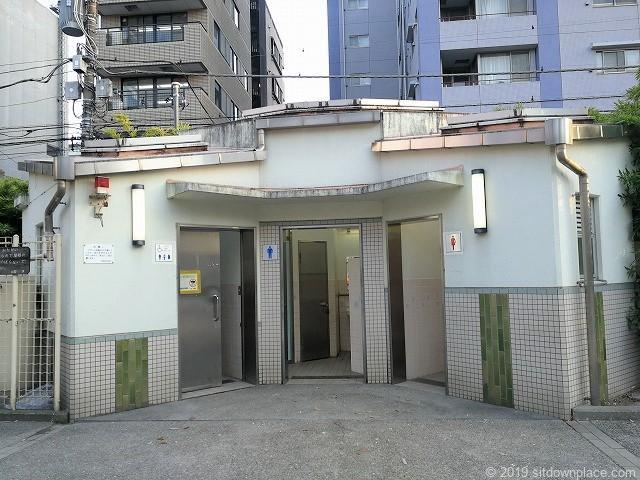 竹町公園の公衆トイレ