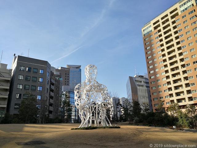 虎ノ門ヒルズ森タワーのオーバル広場