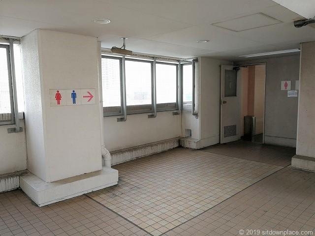 相鉄ジョイナスの森彫刻公園のトイレ