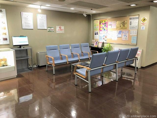 錦糸町駅丸井錦糸町店9階エレベーター前の休憩所外観