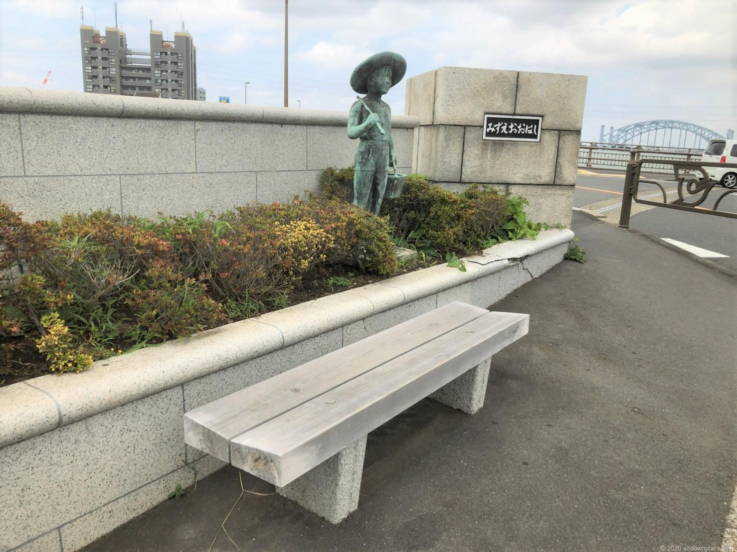 一之江瑞江大橋のベンチ