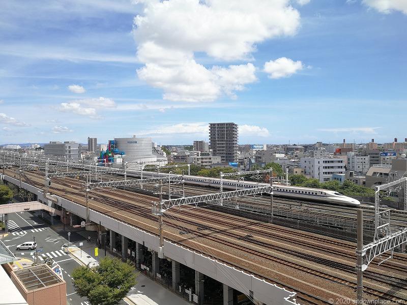 浜松駅アクトの森 アクトタワー前からの景色①
