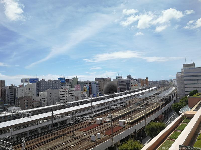 浜松駅アクトの森 アクトタワー前からの景色②