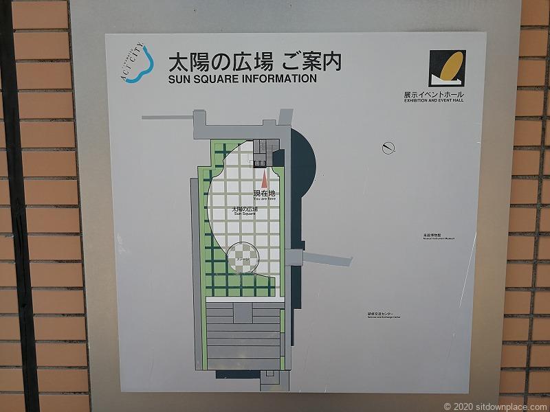 浜松駅アクトの森 太陽の広場の地図