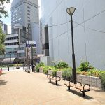 【浜松駅】旭町ポケットパークの休憩場所