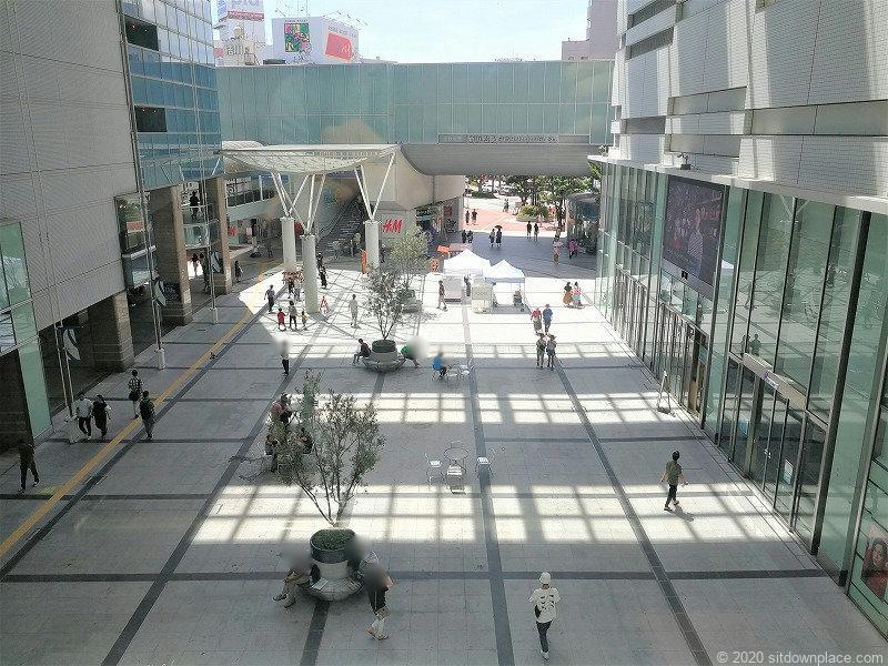 浜松駅ギャラリーモールソラモを上から見た景色