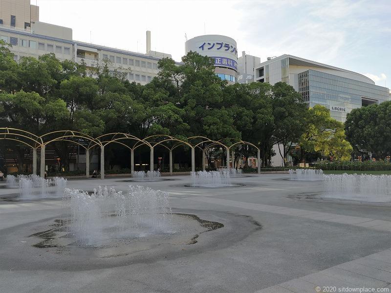 栄駅エンゼル広場の噴水