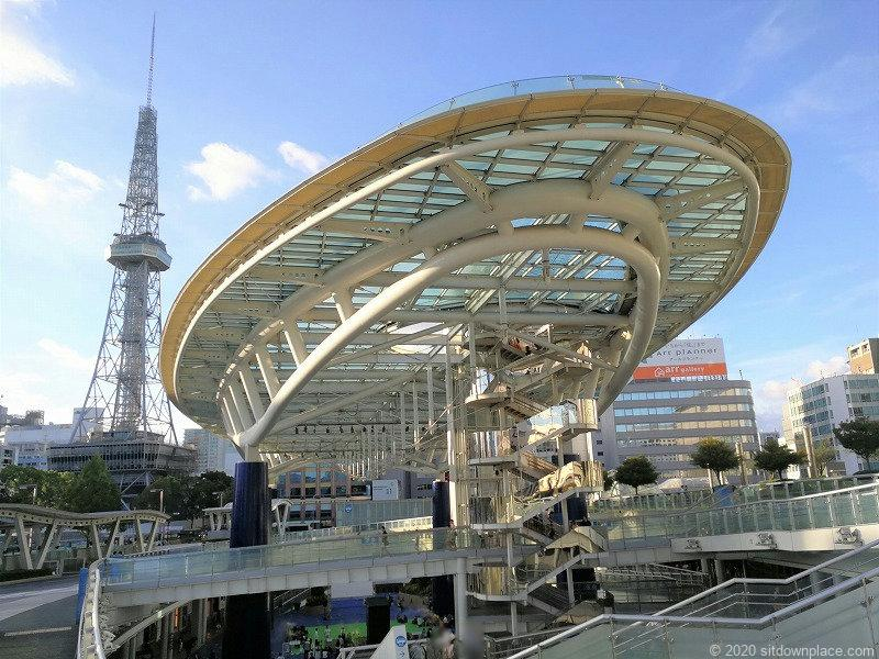 栄駅オアシス21銀河の広場の外観
