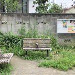 【一之江駅】ポケット広場の休憩場所