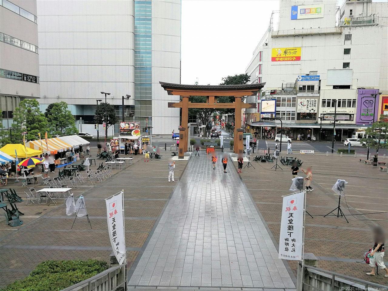 東武宇都宮駅 バンバ広場の全体