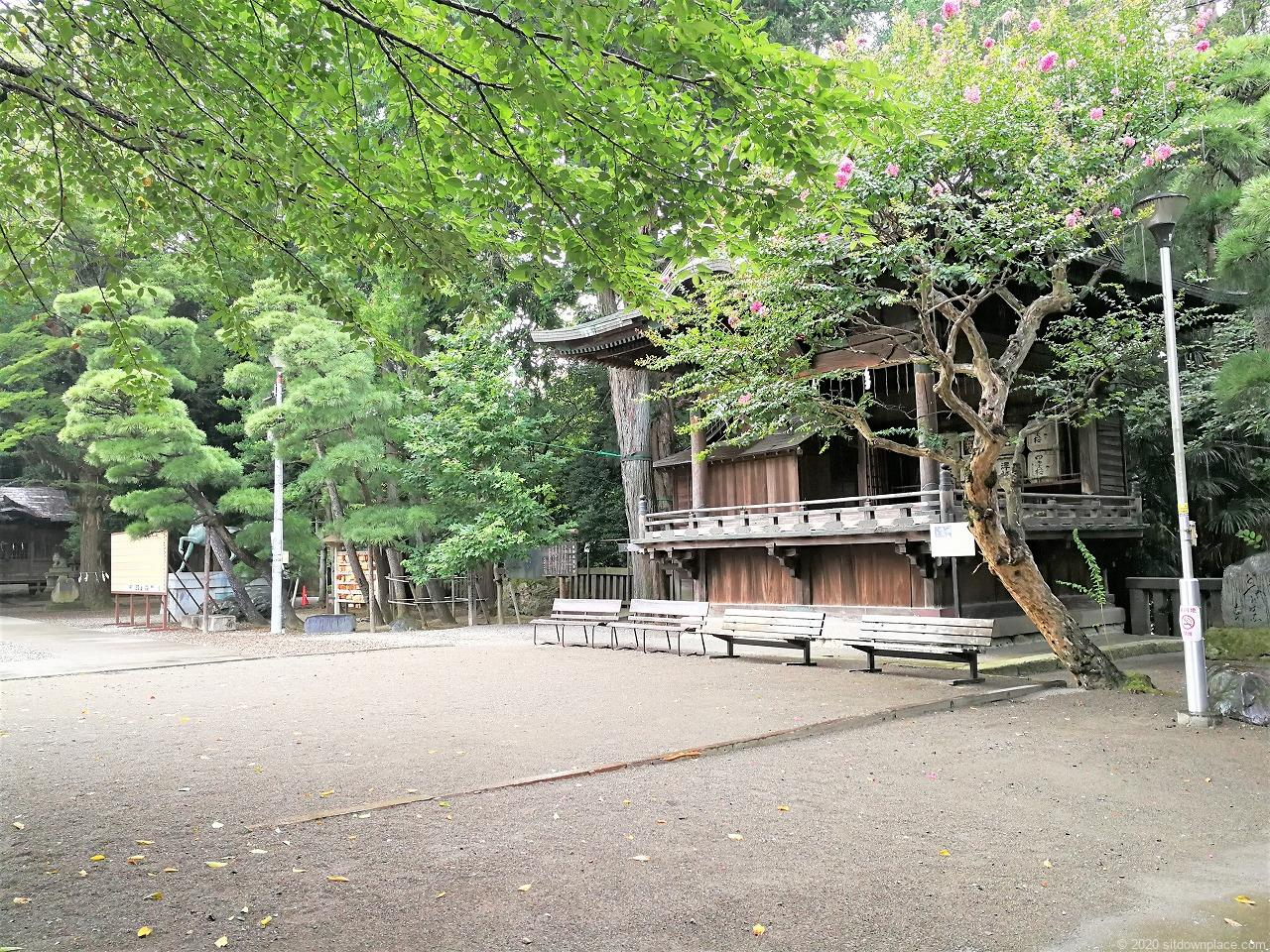 東武宇都宮駅 二荒山神社の休憩場所