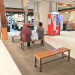 【宇都宮駅】パセオ1F エスカレーター付近の休憩場所
