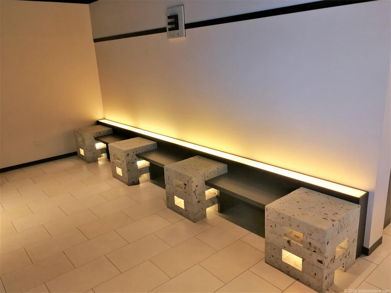 宇都宮駅パセオ3Fエレベーター前の休憩場所