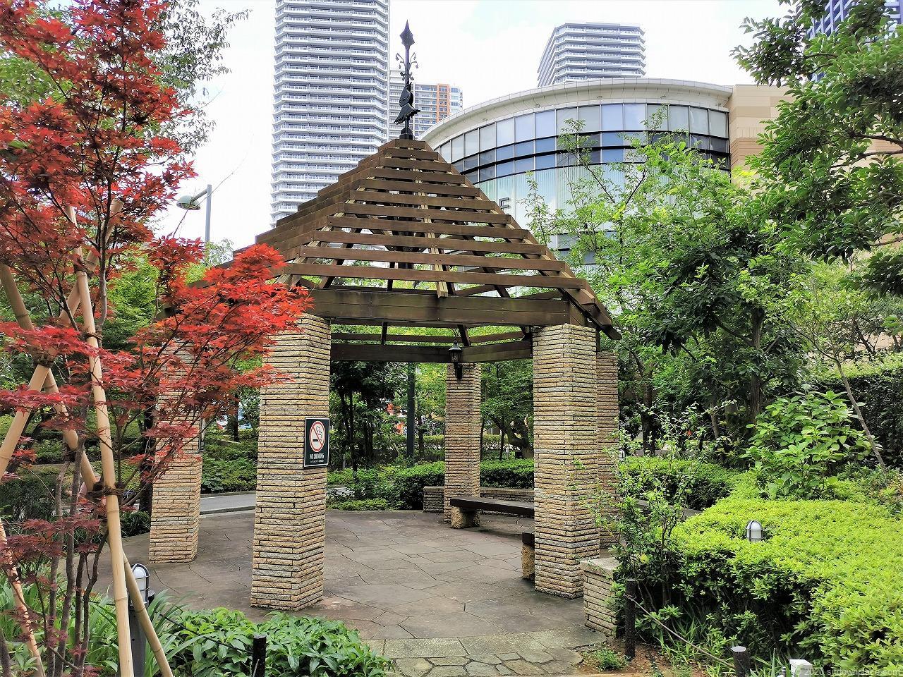 武蔵小杉駅 ふれあいの丘の休憩場所