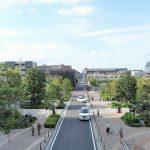 【武蔵小杉駅】パークシティ ザ・ガーデン 地上広場の休憩場所