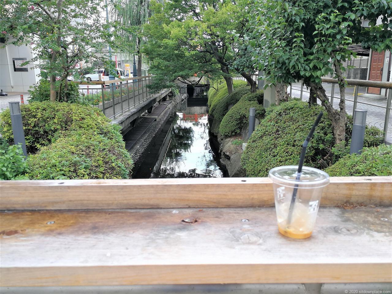 東武宇都宮駅 釜川プロムナード ロマンチックドームの川の景色1