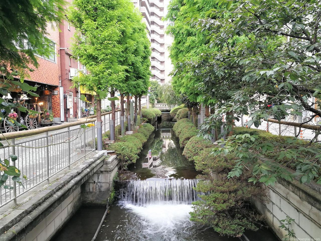 東武宇都宮駅 釜川プロムナード ロマンチックドームの川の景色2
