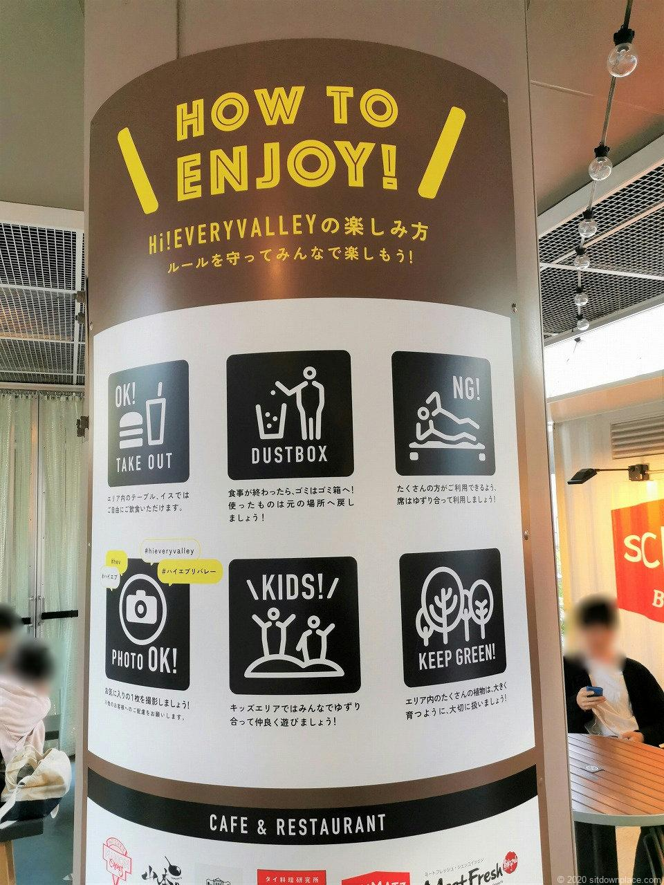 水道橋駅 東京ドームシティ HI!EVERY VALLEYの案内板