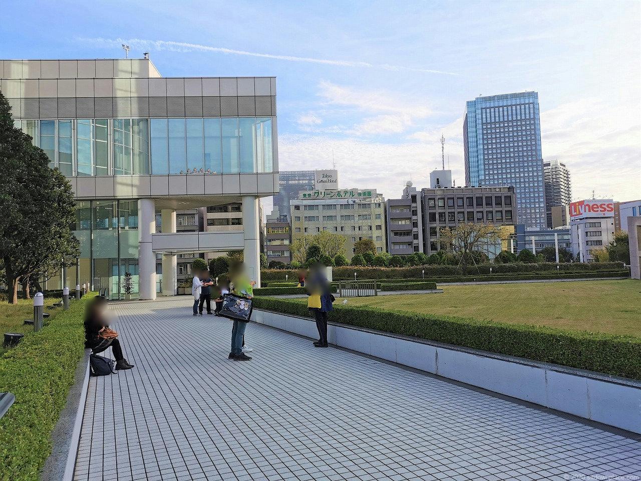 水道橋駅 東京ドームホテル周辺の休憩場所