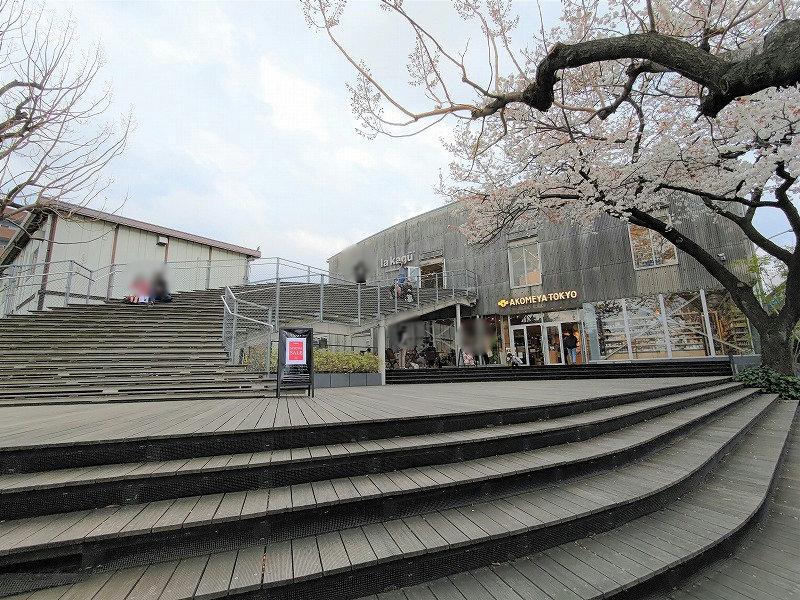 神楽坂駅 la kagu ウッドデッキの外観