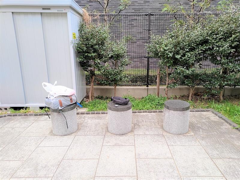 神楽坂駅 寺内公園の休憩場所