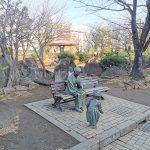 【川口駅】リリアパーク 銅像付近の休憩場所
