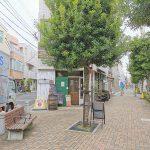 【喜多見駅】北口ふれあい側道の休憩場所