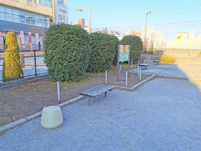南浦和駅 水深公園の休憩場所