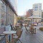 【新百合ヶ丘駅】Odakyu OX横 テラスの休憩場所