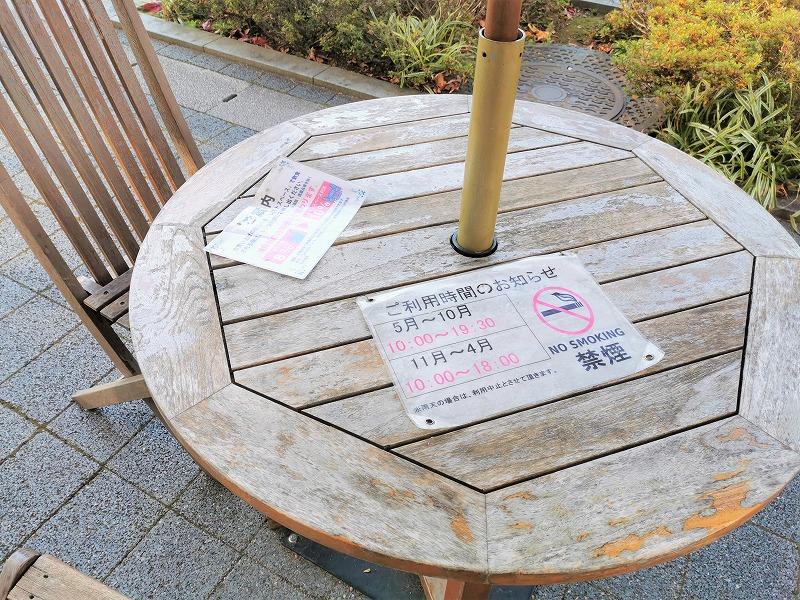 新百合ヶ丘駅 Odakyu OX横 テラスの休憩場所の利用案内