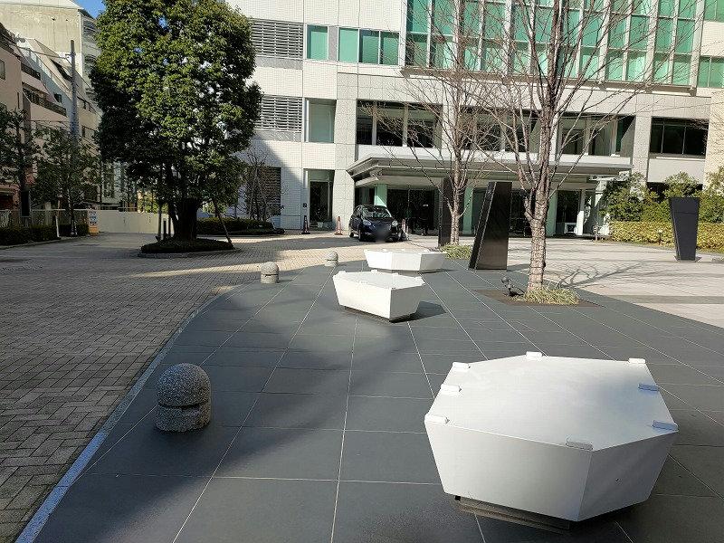 恵比寿駅 恵比寿ビジネスタワー前の休憩場所