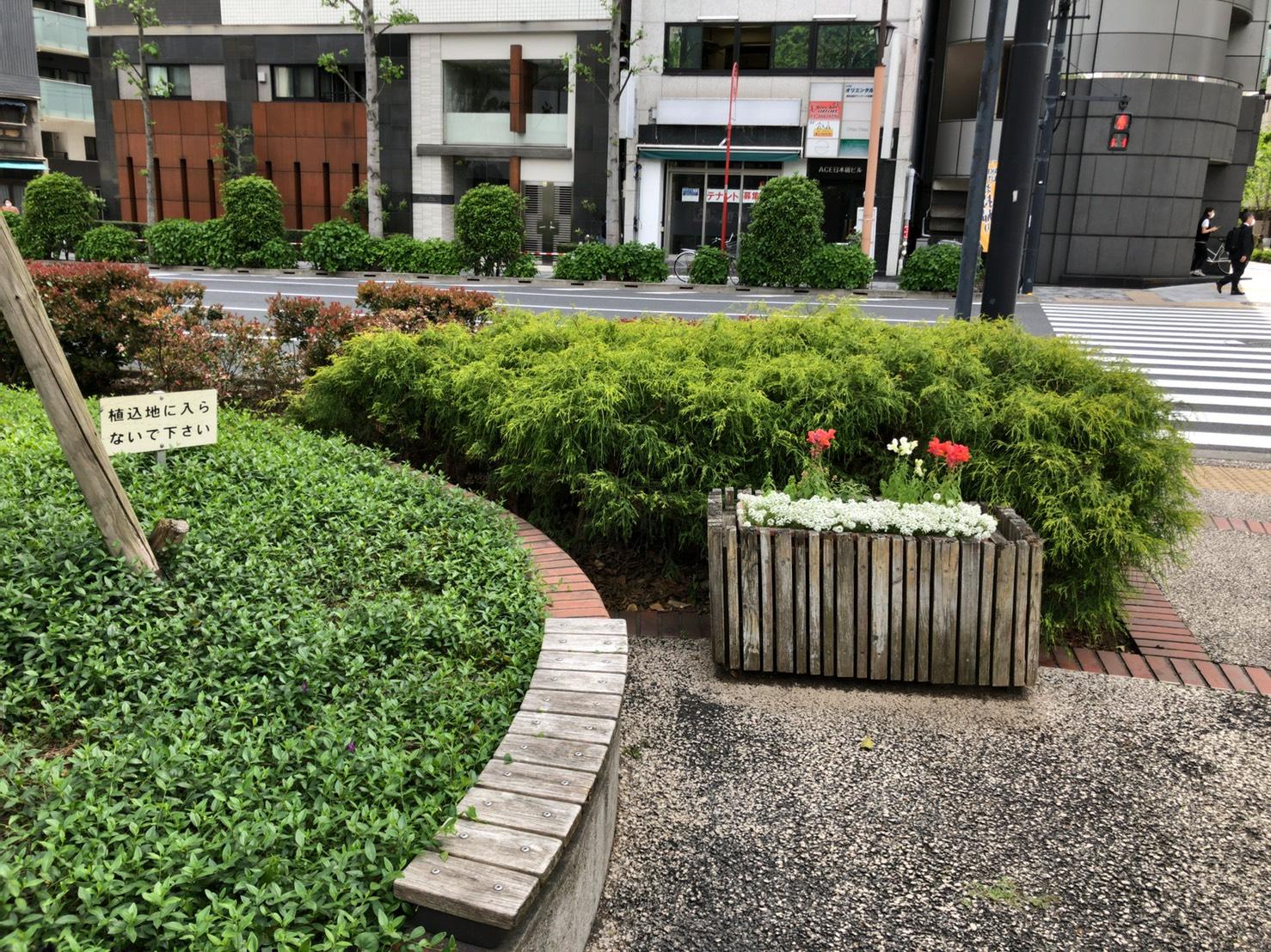 【東日本橋駅】東日本橋交差点 休憩場所2