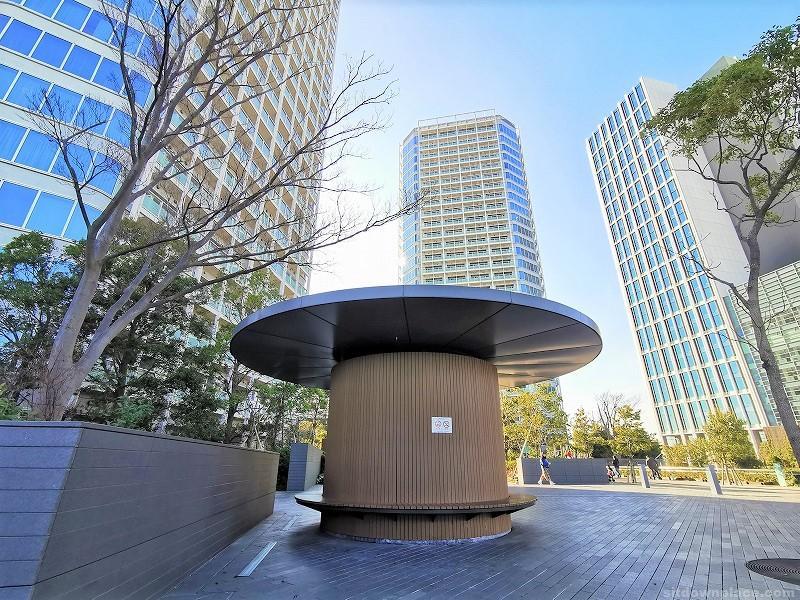 二子玉川駅タワーセントラル前の休憩場所その1