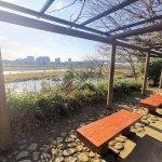 【二子玉川駅】兵庫島公園 ひょうたん池側の休憩場所