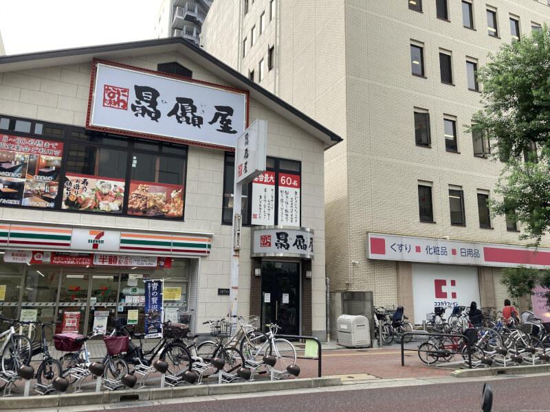 【江坂駅】池田泉州銀行まえの休憩場所1