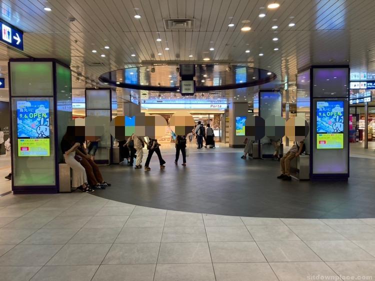 【京都駅】八条東口 B1の休憩場所1