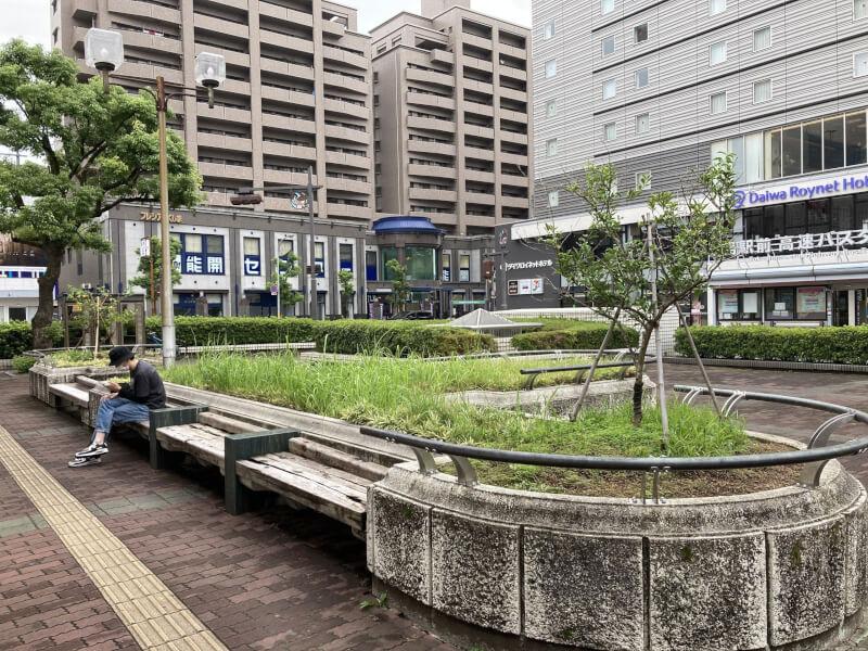 【徳島駅】徳島バスのりば近くの休憩場所2