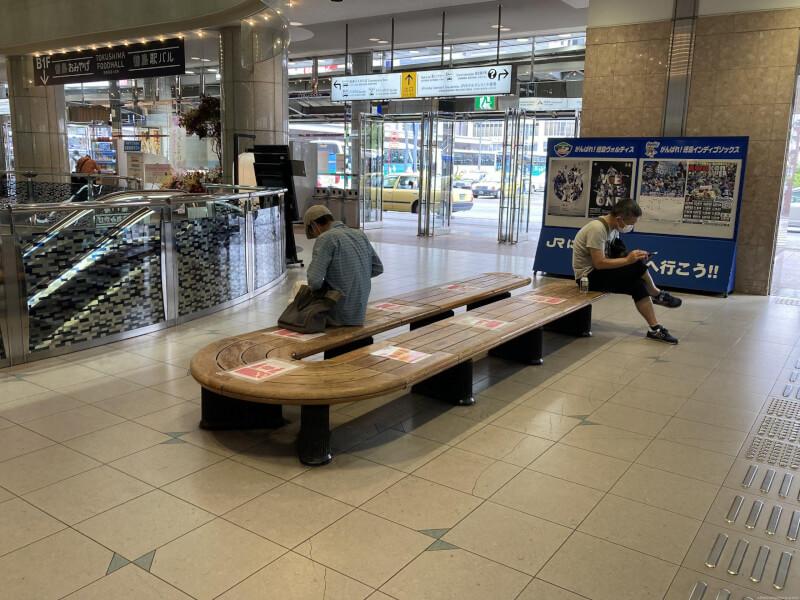 【徳島駅】改札口を出てみどりの窓口付近の休憩場所3