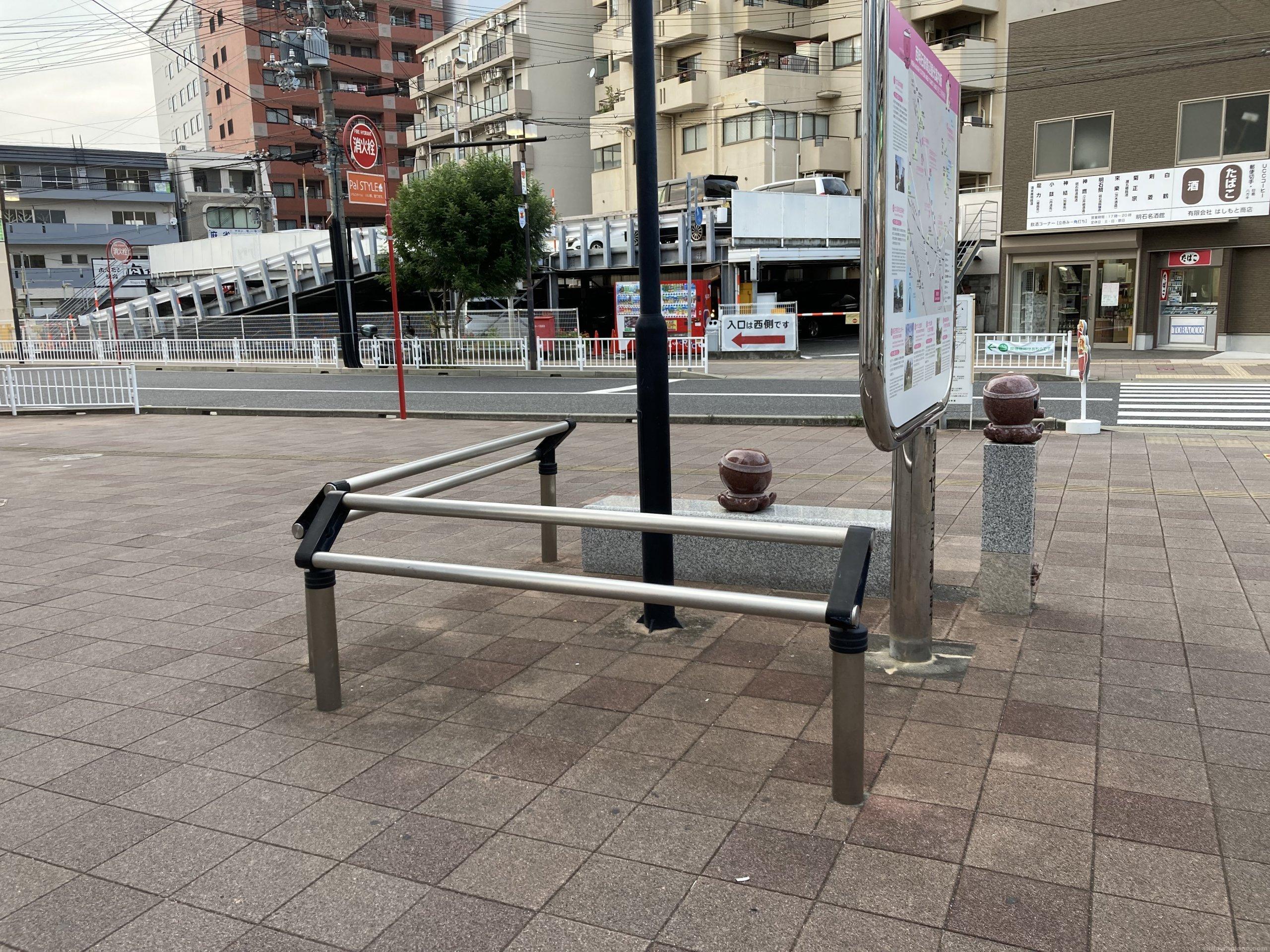 【西明石駅】東口北側の休憩場所3