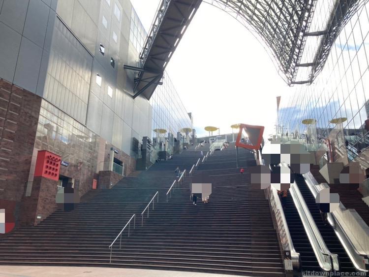 【京都駅】大階段の休憩場所2