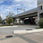 【西新町駅】北口(東側)の休憩場所