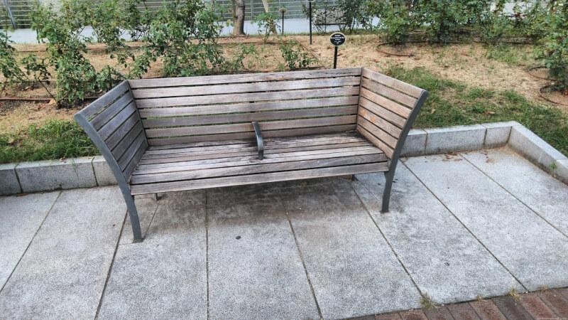 【北浜駅】中之島公園 バラ園の休憩場所4