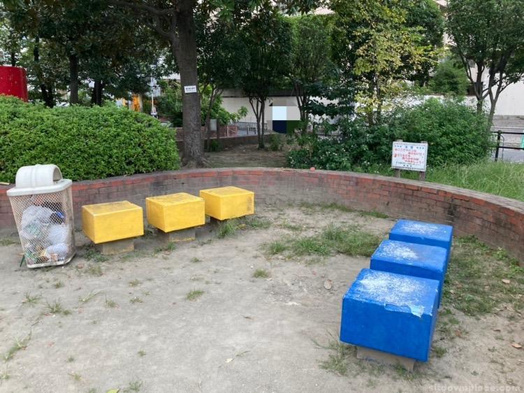 【江坂駅】江の木公園の休憩場所3