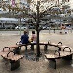 【加古川駅】南口正面の休憩場所