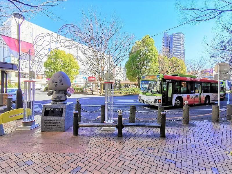 浦和駅うなこちゃん像付近の休憩場所その1