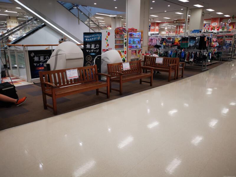 【鳴尾・武庫川女子大前駅】イトーヨーカドー二階の休憩場所1